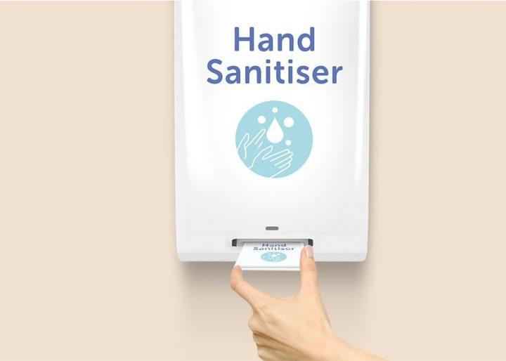 Wall mounts hand sanister dispenser